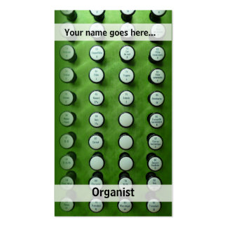 tarjeta de visita de las paradas de órgano