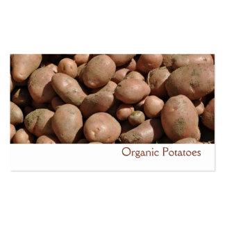 Tarjeta de visita de las patatas
