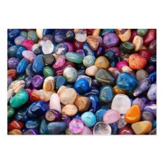 Tarjeta de visita de las piedras preciosas y señal
