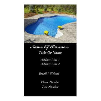 Tarjeta de visita de las piscinas
