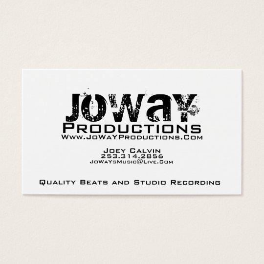 Tarjeta de visita de las producciones de JoWaY