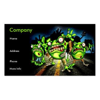 tarjeta de visita de las ranas del zombi