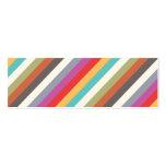 Tarjeta de visita de las rayas multi coloridas de