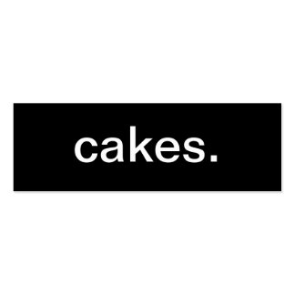 Tarjeta de visita de las tortas