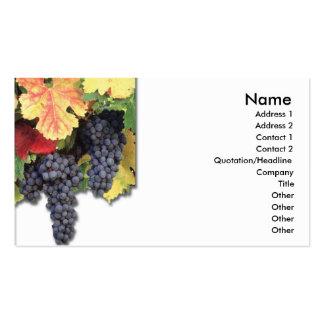 Tarjeta de visita de las uvas