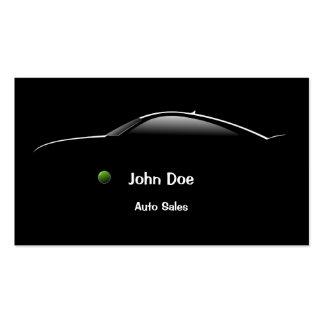 Tarjeta de visita de las ventas autos del coche