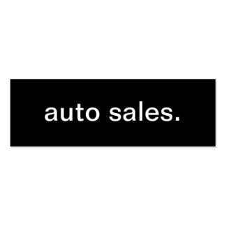Tarjeta de visita de las ventas autos