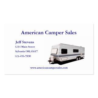 Tarjeta de visita de las ventas del campista