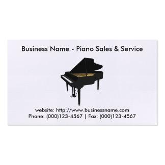 Tarjeta de visita de las ventas del piano: Modelo