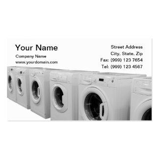 Tarjeta de visita de lavadero