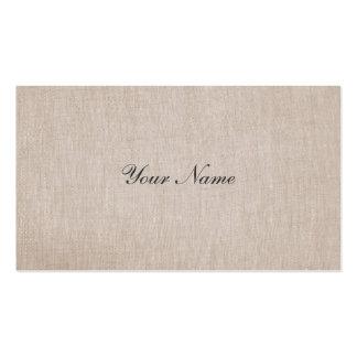 Tarjeta de visita de lino de la elegancia de