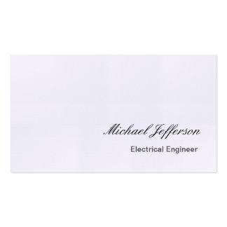Tarjeta de visita de lino del ingeniero eléctrico