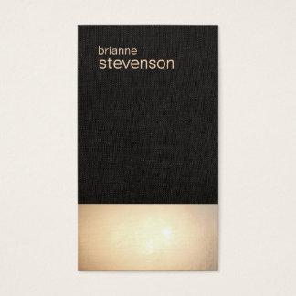 Tarjeta de visita de lino minimalista del