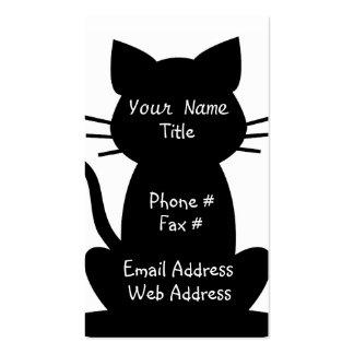 Tarjeta de visita de los amantes del gato