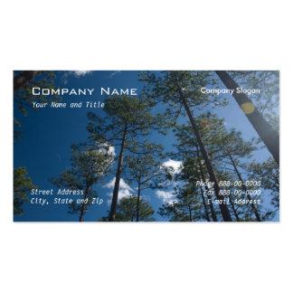 Tarjeta de visita de los árboles de pino