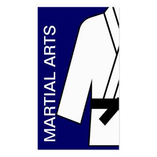 Tarjeta de visita de los artes marciales