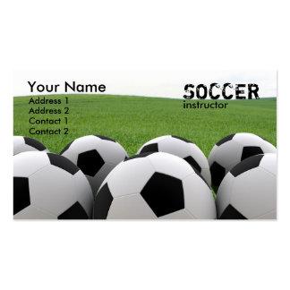 Tarjeta de visita de los balones de fútbol