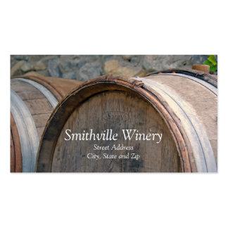 Tarjeta de visita de los barriles de vino