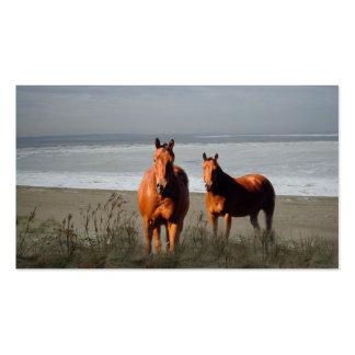Tarjeta de visita de los caballos de la playa