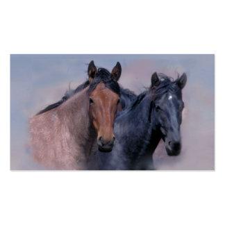 Tarjeta de visita de los caballos salvajes