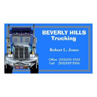 Tarjeta de visita de los camioneros