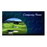 Tarjeta de visita de los campos de golf