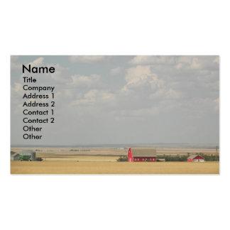 Tarjeta de visita de los campos de trigo