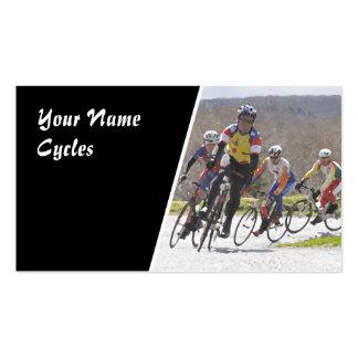 Tarjeta de visita de los ciclos que compiten con