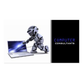 Tarjeta de visita de los consultores informáticos