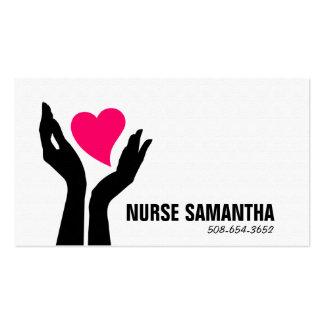Tarjeta de visita de los cuidados de enfermería en