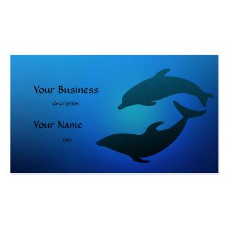 Tarjeta de visita de los delfínes del delfín