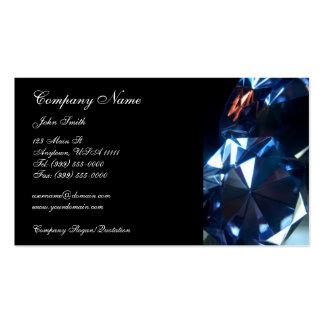 Tarjeta de visita de los diamantes