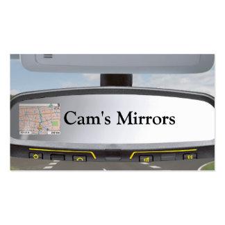 Tarjeta de visita de los espejos de la leva