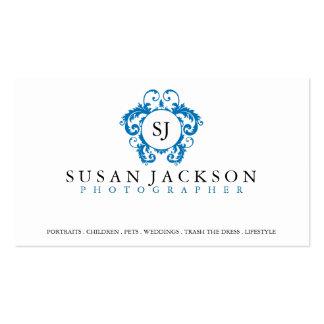Tarjeta de visita de los fotógrafos del logotipo