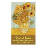 tarjeta de visita de los girasoles de Van Gogh