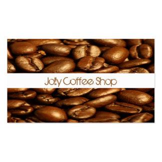 Tarjeta de visita de los granos de café