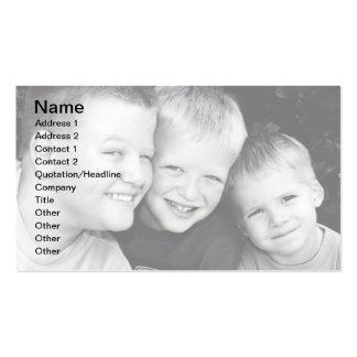 Tarjeta de visita de los hermanos tres I