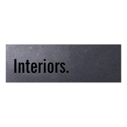 Tarjeta de visita de los interiores del negro de c