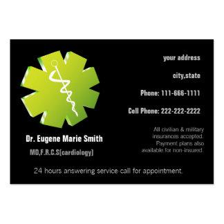 tarjeta de visita de los médicos con la cita