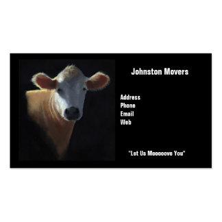 Tarjeta de visita de los motores: Vaca: Déjenos Mo