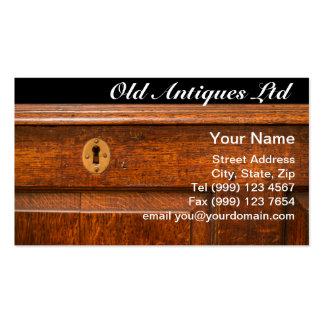 Tarjeta de visita de los muebles antiguos