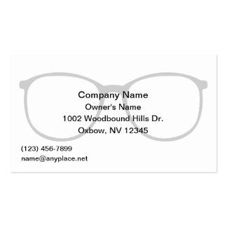Tarjeta de visita de los oftalmólogos del oculista