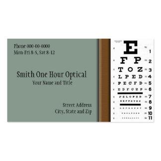 Tarjeta de visita de los optometristas
