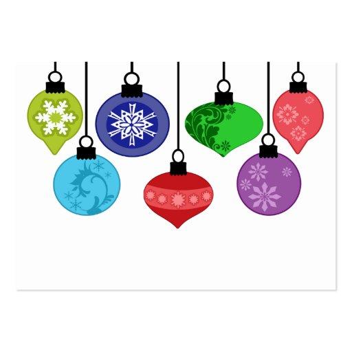 Tarjeta de visita de los ornamentos del navidad