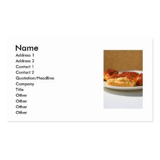 Tarjeta de visita de los pasteles de Nazook
