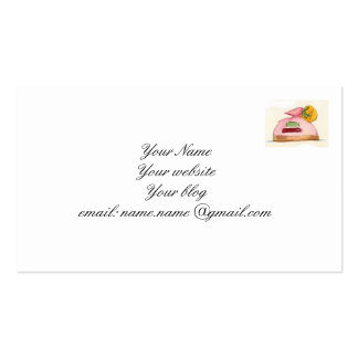 Tarjeta de visita de los pasteles franceses
