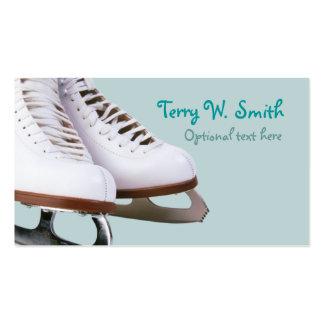Tarjeta de visita de los patines de hielo