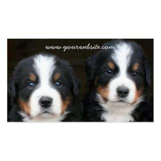 Tarjeta de visita de los perritos del perro de