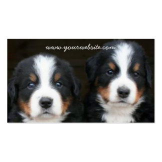 Tarjeta de visita de los perritos del perro de mon
