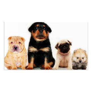 Tarjeta de visita de los perritos